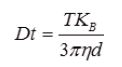 Stokes-Einstein equation