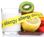 Oral allergy syndrome, allergic response  from fruit