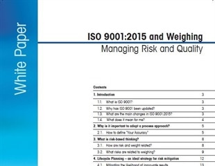 Impact of ISO 9001:2015 on weighing processes explained in new METTLER TOLEDO white paper