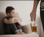 What causes harsher parenting by alcoholic women?