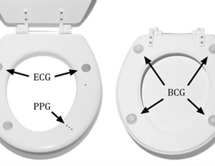 Toilet seat heart monitoring system
