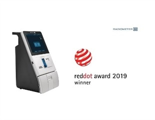 Radiometer's ABL9 blood gas analyzer awarded Red Dot Design Award