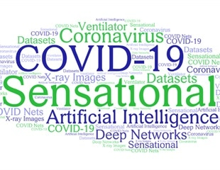 The Surge of Sensationalist COVID-19 AI Research
