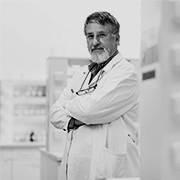 Scientist standing in lab