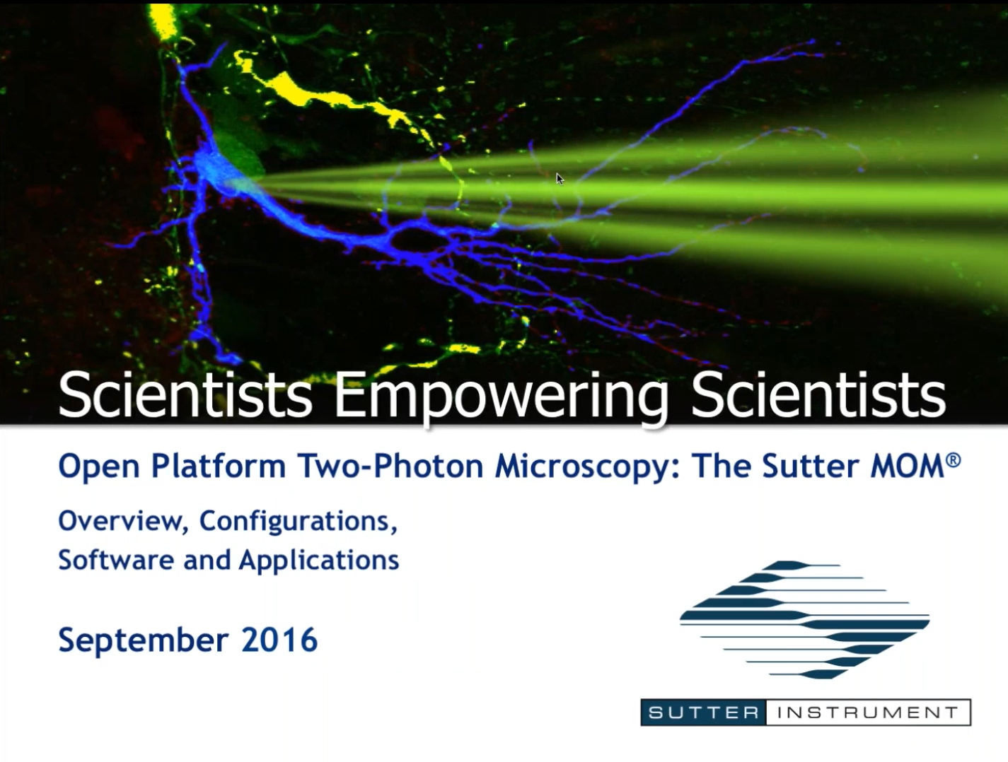 Open Platform Two-Photon Microscopy: The Sutter MOM - Scientists Empowering Scientists